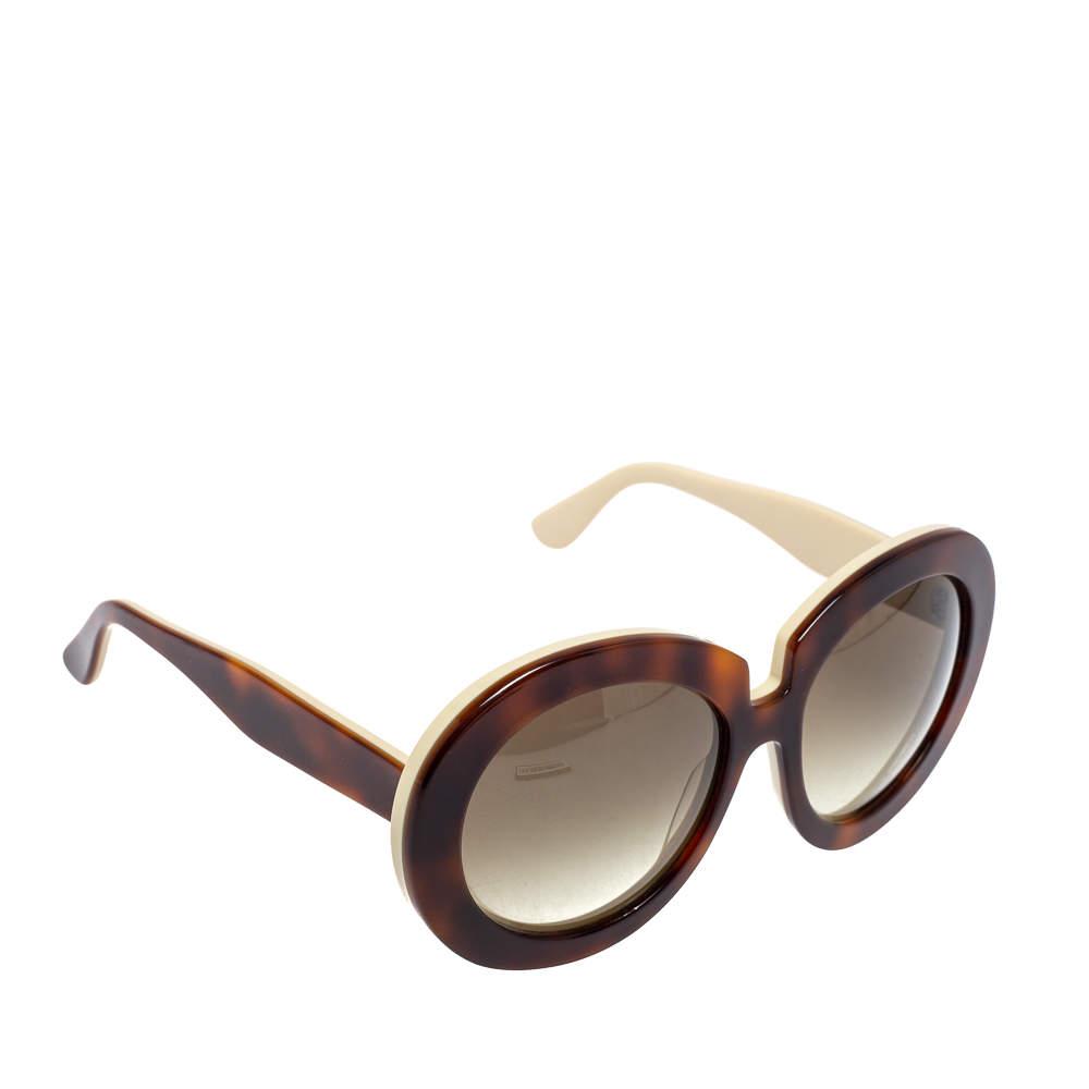 Valentino Ivory & Havana/ Grey Gradient V707S Oversized Sunglasses