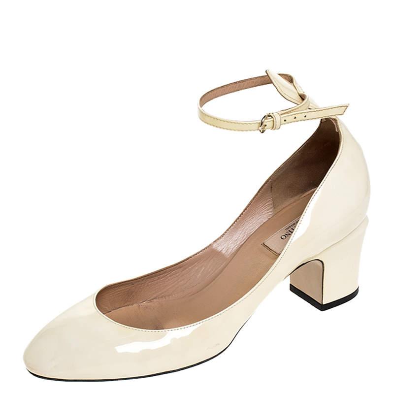 Valentino White Patent Leather Tango