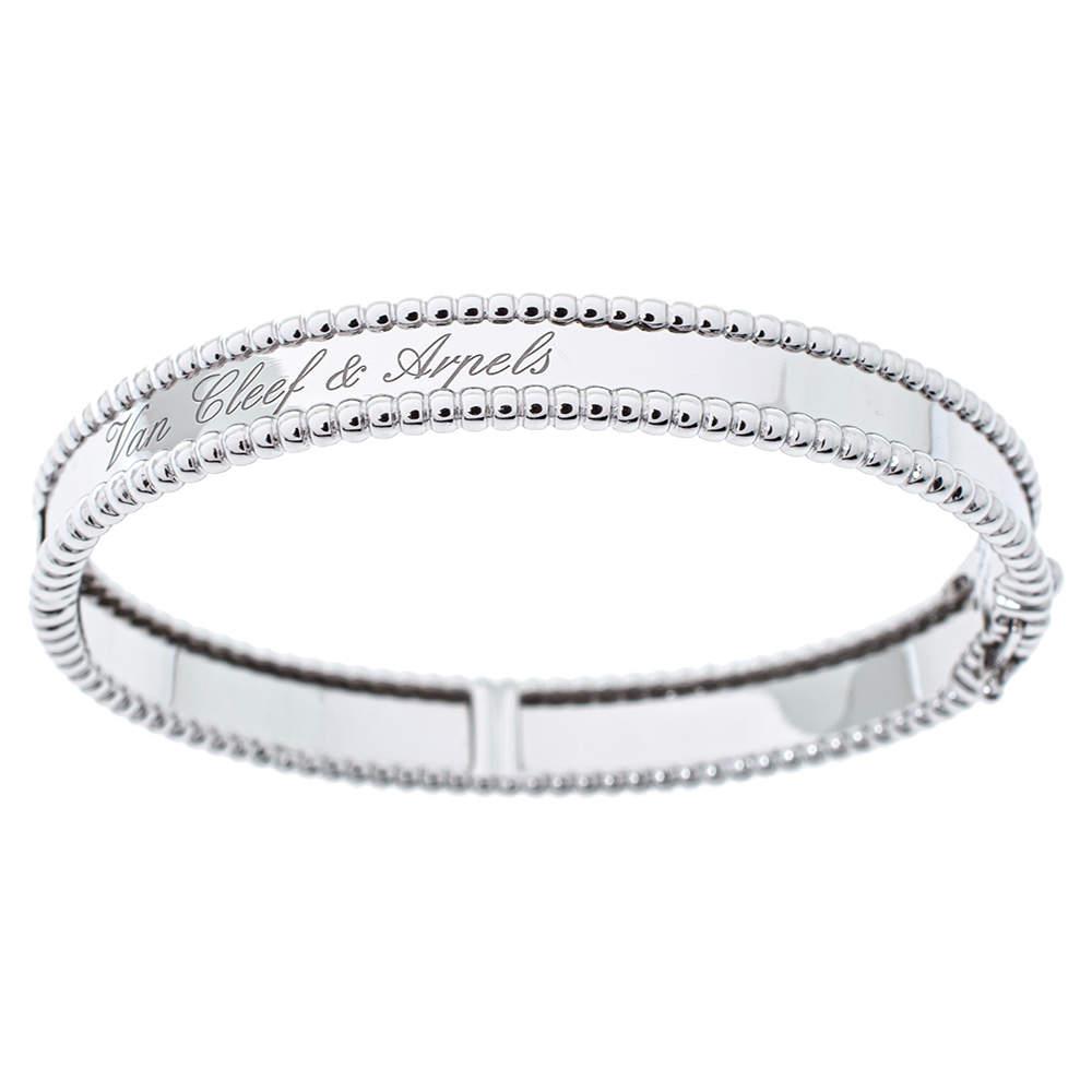 Van Cleef & Arpels Perlee Signature 18K White Gold Bracelet XS