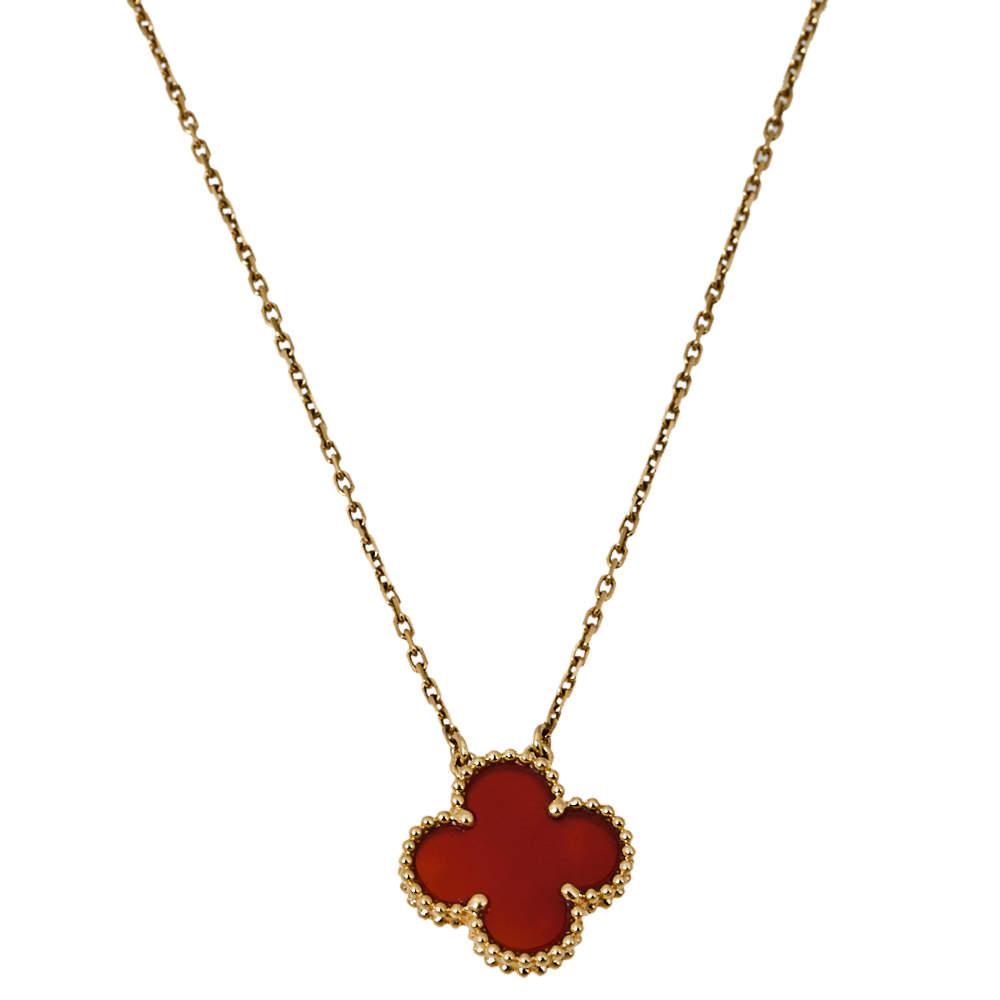 Van Cleef & Arpels Vintage Alhambra 18K Yellow Gold Pendant Necklace