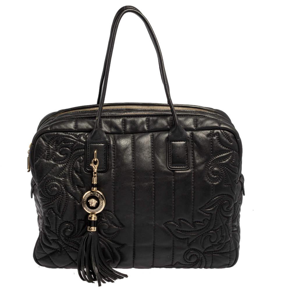 Versace Black Demetra Vanitas Satchel
