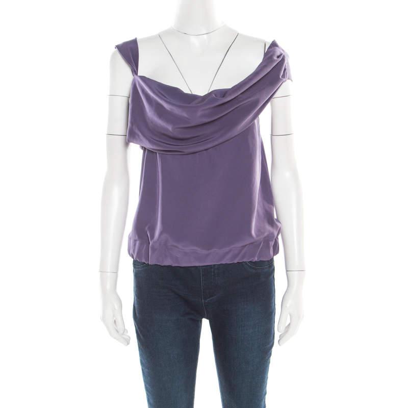 Vivienne Westwood Red Label Purple Draped Sleeveless Top S