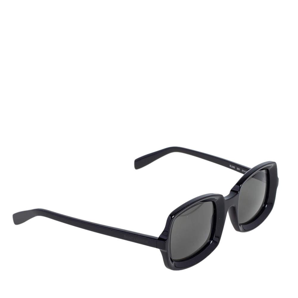 Saint Laurent Black/Grey SL245 Rectangle Sunglasses