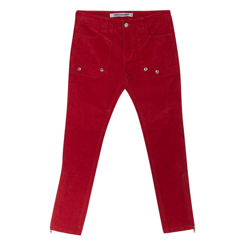 Zadig and Voltaire Red Corduroy Pants M