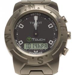 Tissot Black Titanium T-Touch Analogue & Digital Multifunctional Men's Wristwatch 41MM
