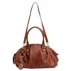 a7af2e50a77323 Sold. Gucci Brown Guccissima Sukey Satchel