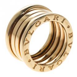 bvlgari bzero1 3 band 18k yellow gold ring size 47