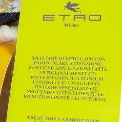Etro Cream Sequin Long Kimono M