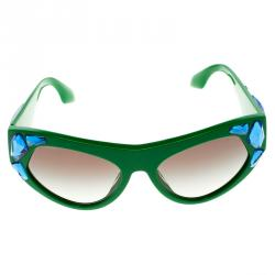4526acb76716 ... netherlands prada green spr 21q crystal embellished cat eye sunglasses  f03ec 1d6d3