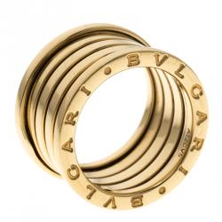 bvlgari bzero1 4 band 18k yellow gold band ring size 54