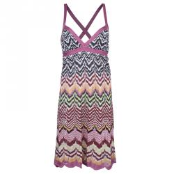 b587f13531d4 Sold. Missoni Multicolor Crochet Knit Dress M