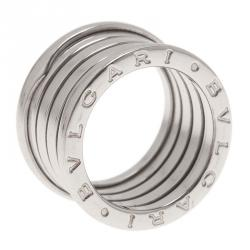bvlgari bzero1 4band 18k white gold ring size 52