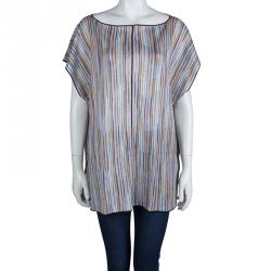 e2c6e077c1d3 Missoni Mare Multicolor Striped Knit Tunic M