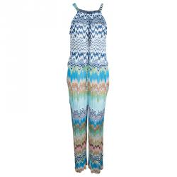 72a515a2275b Sold. Missoni Mare Multicolor Knit Wave Pattern Sleeveless Sheer Jumpsuit M