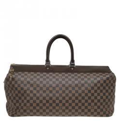 louis vuitton luggage men. louis vuitton damier ebene canvas greenwich gm bag luggage men o