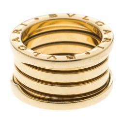 bvlgari bzero1 18k yellow gold 4 band ring size 50