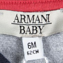 سالوبيت أرماني بيبي أزرق كحلي مبطن أكمام طويلة 6 أشهر