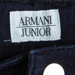 بنطلون جينز سكيني أرماني جونيور سوبر سليم أزرق داكن 14 سنة