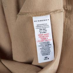 Burberry Children Brown Flock Printed Short Sleeve T Shirt 4 Yrs