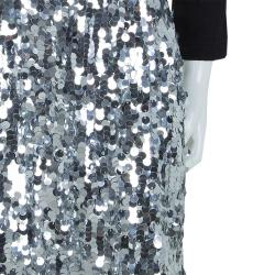 Dolce and Gabbana Silver Sequin Embellished Skirt 9/10 Yrs