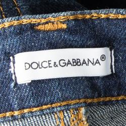 Dolce and Gabbana Indigo Dark Wash Denim Skinny Bambino Jeans 9-10 Yrs