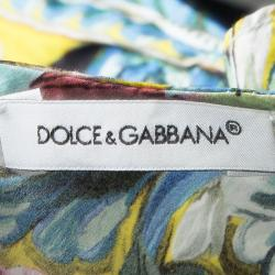 Dolce and Gabbana Multicolor Printed Cotton Dress and Bloomer Set 3-6 Months