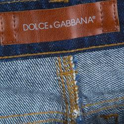 Dolce and Gabbana Indigo Dark Wash Distressed Denim Jeans 6 Yrs