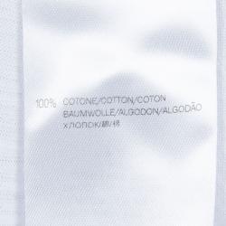 Gucci White Slub Jersey Logo Print T-Shirt 6 Yrs