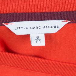 Little Marc Jacobs Red Astronaut Print Crew Neck T-Shirt 6 Yrs