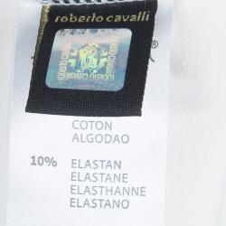 Roberto Cavalli Angels Cream Heart Logo Print Long Sleeve Tshirt 10 Yrs