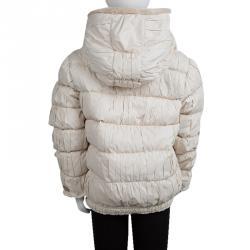 Roberto Cavalli Angels Off white Puffer Jacket 10 Yrs