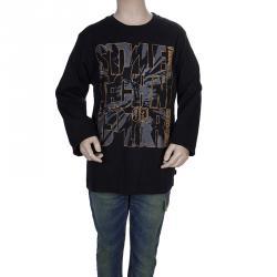 Roberto Cavalli Devils Black Rubber Graphic Print Long Sleeve Tshirt 8 Yrs