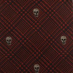 Alexander McQueen Red Woven Skull Silk Tie