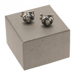 Alexander McQueen Skull & Bone Stainless Steel Cufflinks
