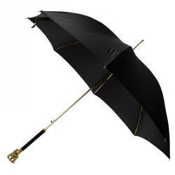 Alexander McQueen Black Crown Skull Umbrella