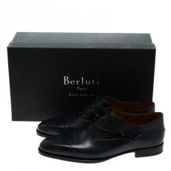 Berluti Two Tone Leather Lace Up Oxfords Size 42