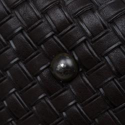 Bottega Veneta Brown Intrecciato Woven Leather Duffel Bag