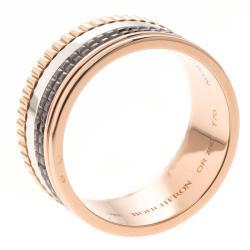 خاتم بوشيرون كلاسيك كواتر ثلاث ألوان ذهب عيار 18 و PVD بني كبير مقاس 69