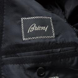 Brioni Black Cashmere Long Coat XL