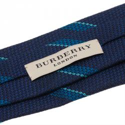 Burberry Blue Striped Silk Tie