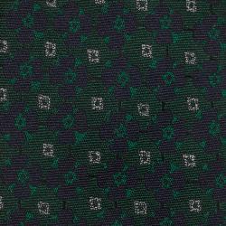 Burberry Green Floral Silk Tie