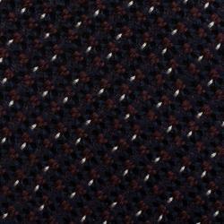 Burberry Mahogany Red & Navy Blue Slim Cut Silk Tie