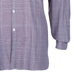 Burberry Men's Maroon Check Slim Fit Shirt L