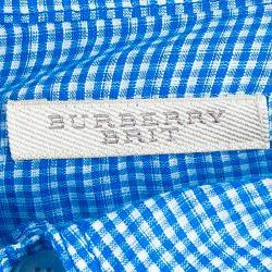 Burberry Men's Blue Check Shirt M