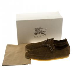 Burberry Prorsum Brown Suede Tobias Loafers Size 45