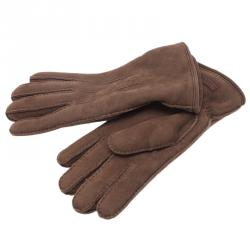 Burberry Brown Shearling Luca Gloves Size 8