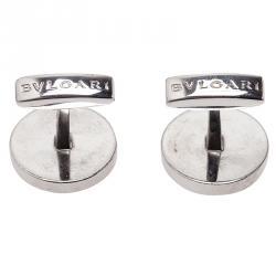 Bvlgari Silver Men's Cufflinks
