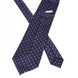 Bvlgari Blue Printed Silk Tie