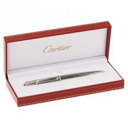 Cartier Silver Platinum Finish Diabolo Ballpoint Pen
