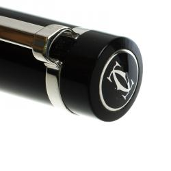 Cartier Pasha Black Lacquer Palladium Finish Ballpoint Pen